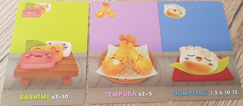 sushi go review sashimi tempura dumpling