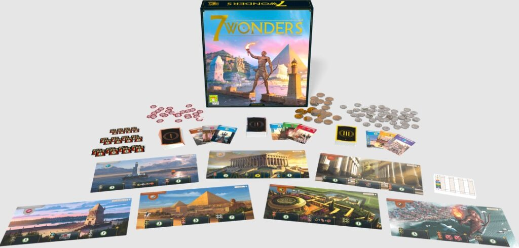 Most Popular Board Games 7 Wonders Components