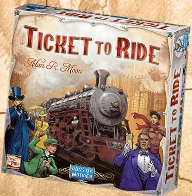 Most Popular Board Games Ticket to Ride Box