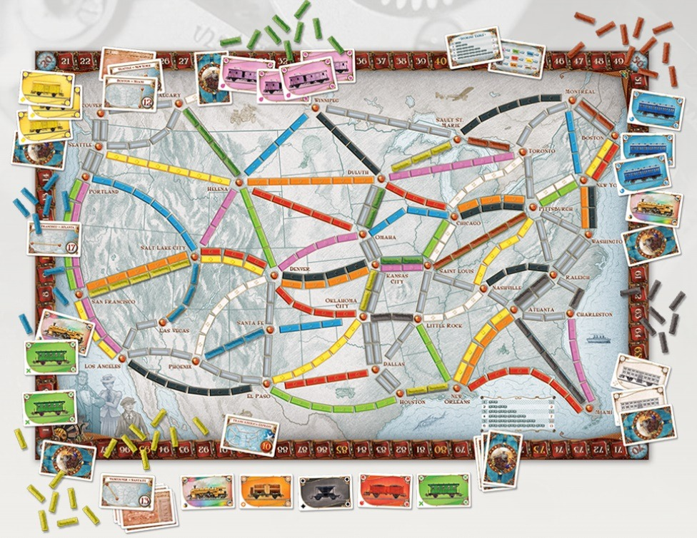 Most Popular Board Games Ticket to Ride USA Board