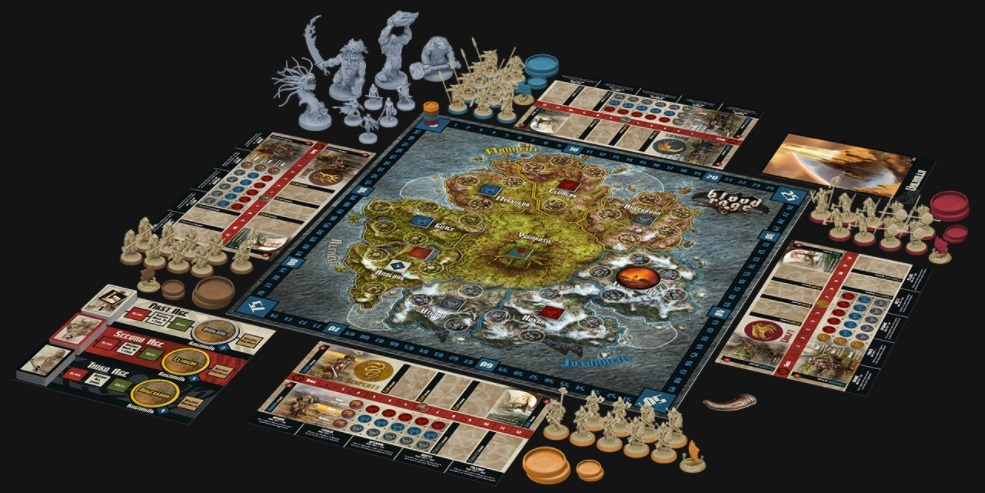 best viking board games blood rage layout overview