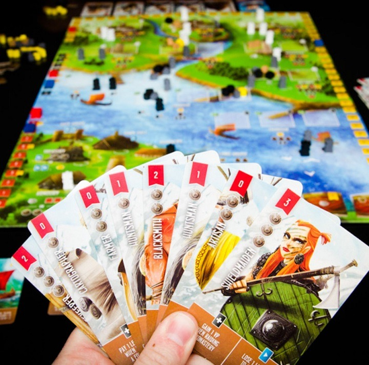 best viking board games raiders of the north sea hand cards