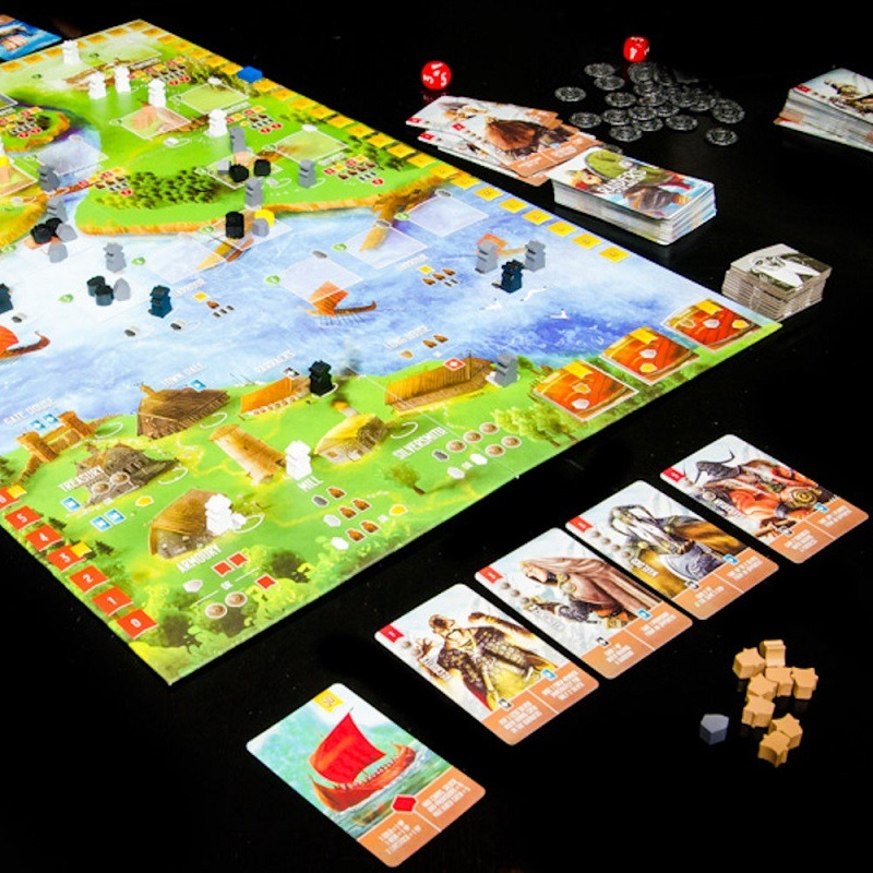 best viking board games raiders of the north sea layout overview