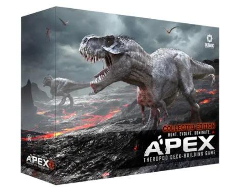 best dinosaur board games apex theropod deck-building game box