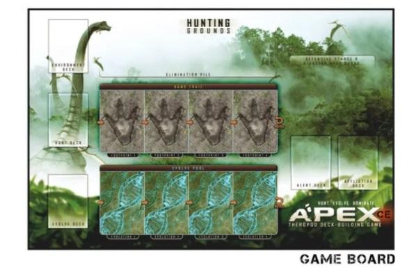 best dinosaur board games apex theropod deck-building game board