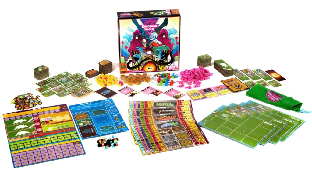 best dinosaur board games dinosaur island components