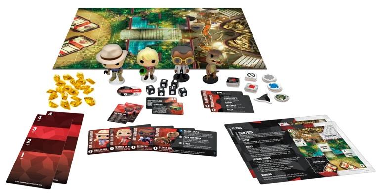 best dinosaur board games funkoverse jurassic park 4 character set