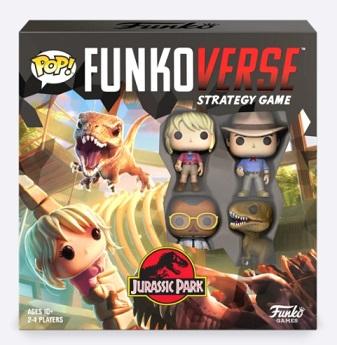 best dinosaur board games funkoverse jurassic park 4 character box