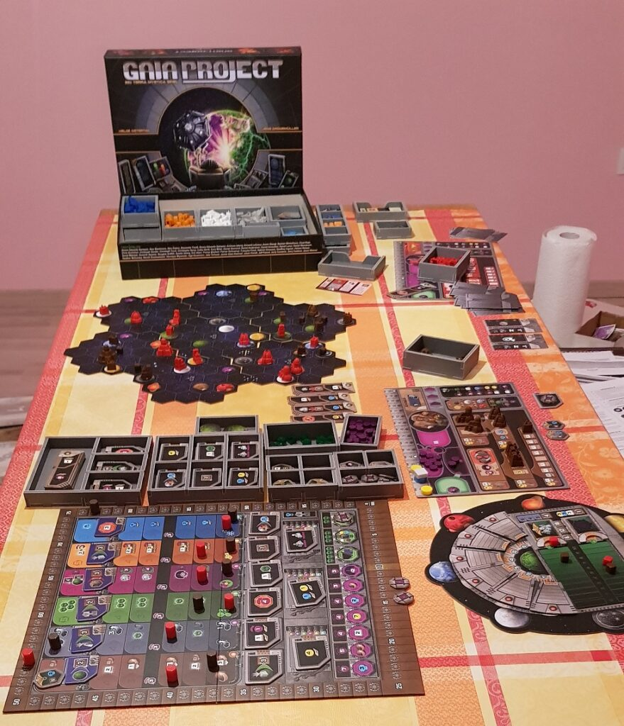 gaia project board game review game in progress