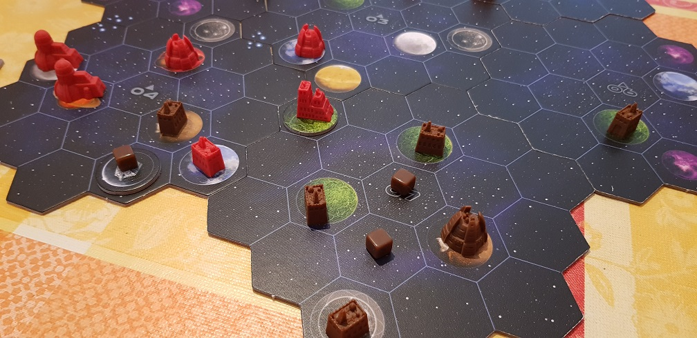 gaia project board game review map and structures