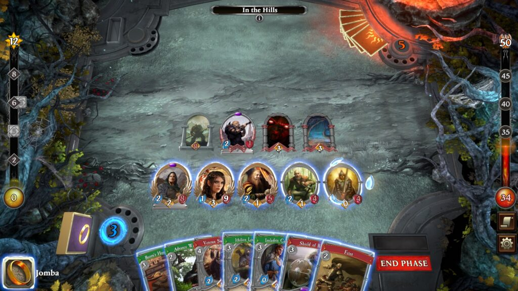 The Lord of the Rings Adventure Card Game Review battle overview