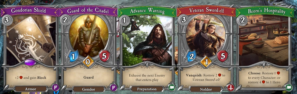 The Lord of the Rings Adventure Card Game Review cards