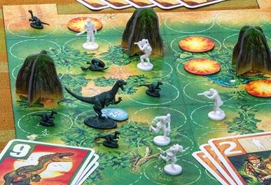 best dinosaur board games raptor board close up