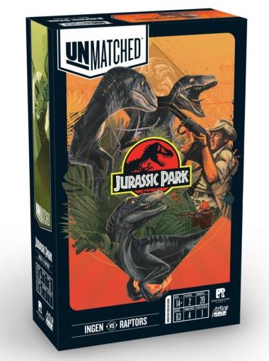 best dinosaur board games unmatched jurassic park box