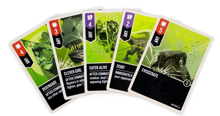 best dinosaur board games unmatched jurassic park raptor cards