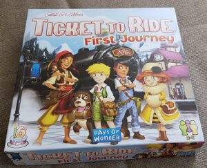 Ticket to Ride First Journey Europe Review box