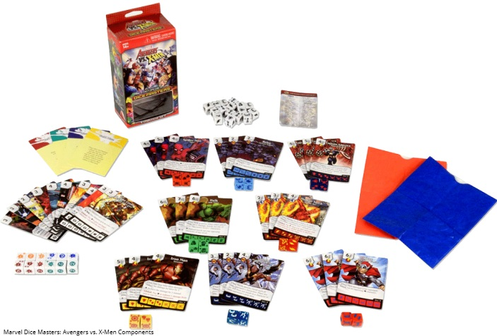 best marvel board games marvel dice masters components