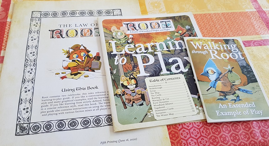 root board game review manuals