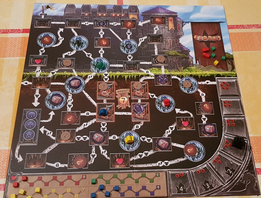 Clank Board Game Review Board Overview