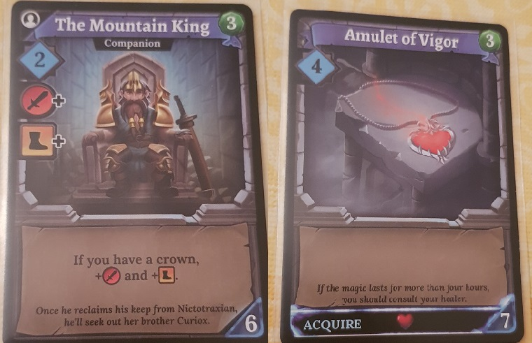 Clank Board Game Review Mountain King and Amulet of Vigor