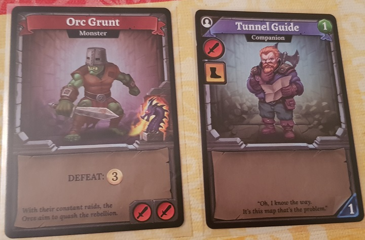 Clank Board Game Review Orc Grunt and Tunnel Guide
